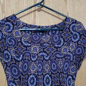 Silk square neck blouse